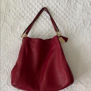 Red Coach Handbag Like new